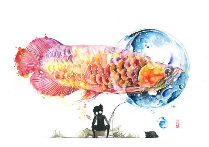 beautiful-Animal-Illustrations-In-Watercolor-paintings (5)