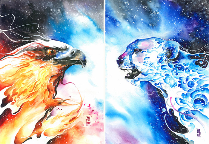beautiful-Animal-Illustrations-In-Watercolor-paintings (8)