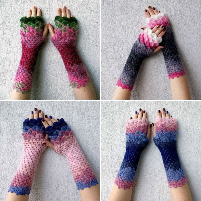 beautiful-crochet-dragon-wool-gloves-3
