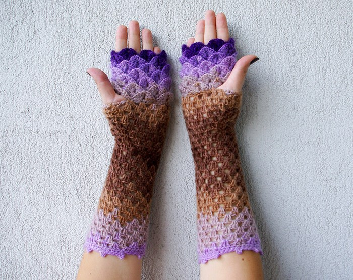 beautiful-crochet-dragon-wool-gloves-7