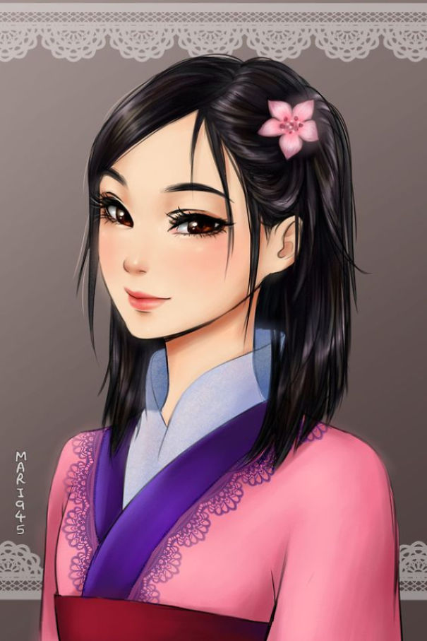 disney-princesses-anime-characters-drawings-11