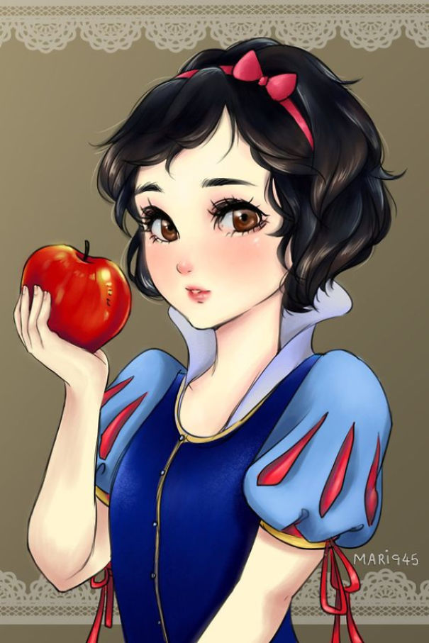 disney-princesses-anime-characters-drawings-3