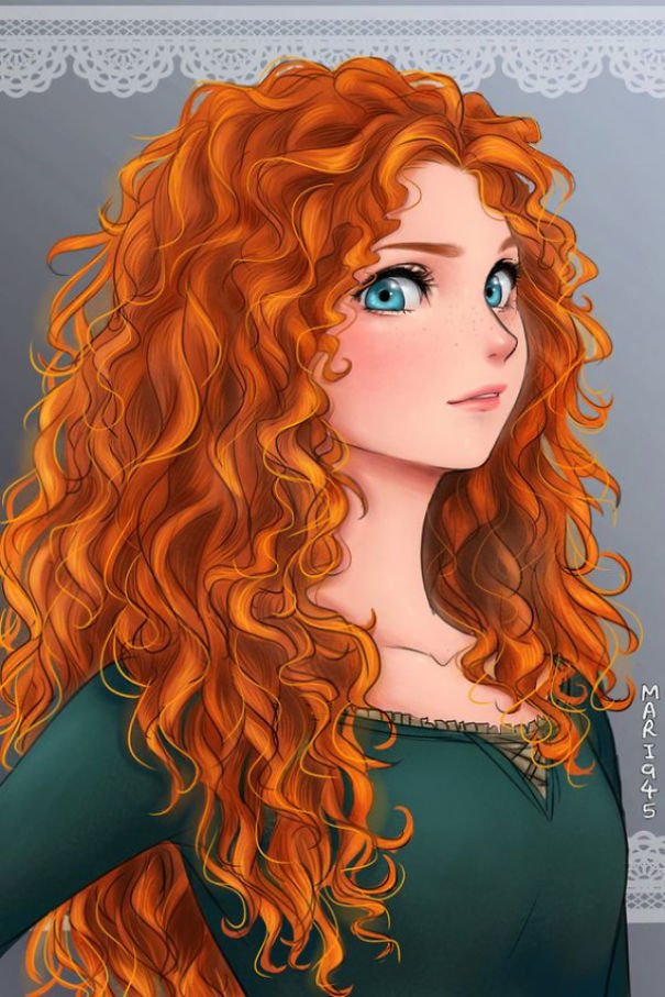 disney-princesses-anime-characters-drawings-8