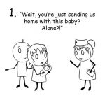 Funny comics show something that only a new parent would understand