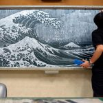 Chalkboard Art by a Japanese Teacher