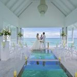 Love and oath between the sea and the sky – Overwater wedding pavilio in Maldives