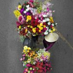 Photographer captured bouquet-like photographs on bridges in Vietnam when street vendors unknowingly passed below
