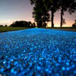 Eco-friendly road design that gives out light at night and recharges from the sunlight
