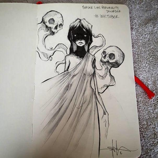 mental-illness-disorders-illustrations-drawings-inktober-5