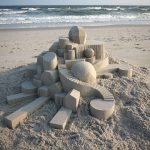 Amazing sand sculptures in the style of brutalist