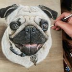 Hyper-realistic artworks created on wood panels