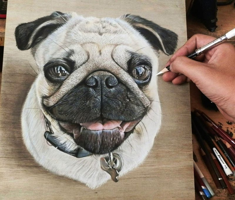 hyper-realistic-paintings-photorealism-drawing-wood-1