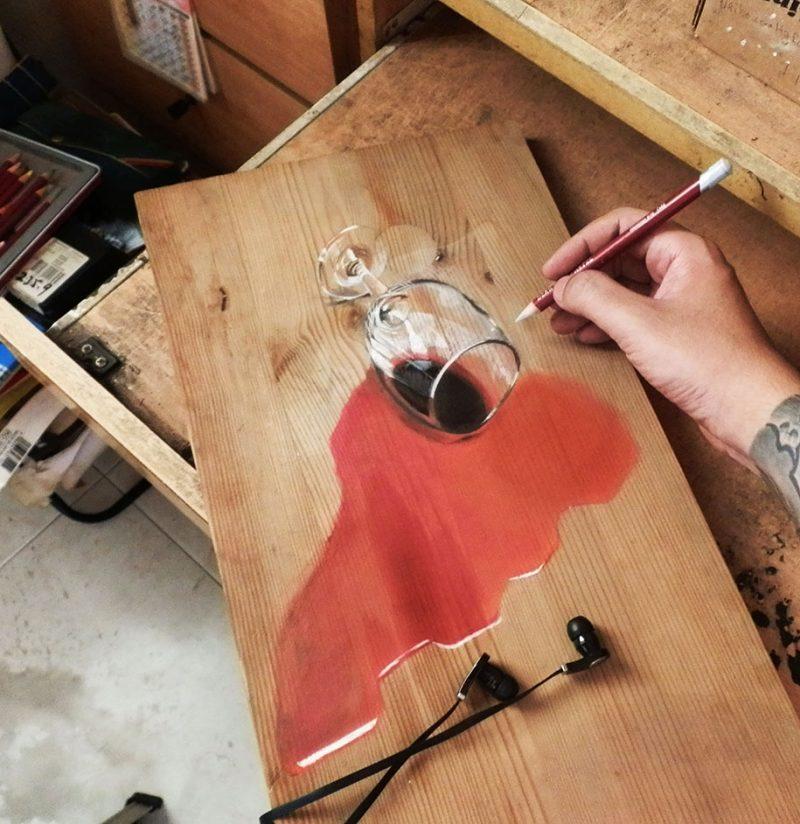 hyper-realistic-paintings-photorealism-drawing-wood-6