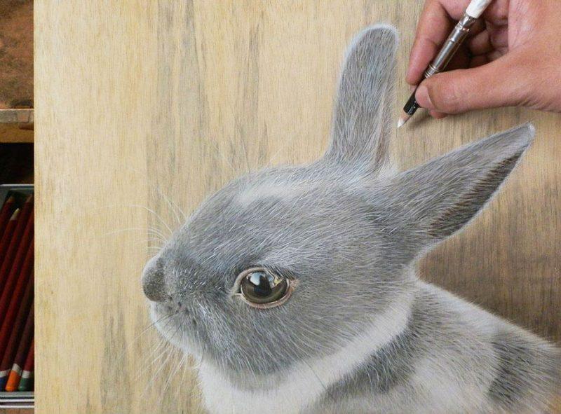 hyper-realistic-paintings-photorealism-drawing-wood-9