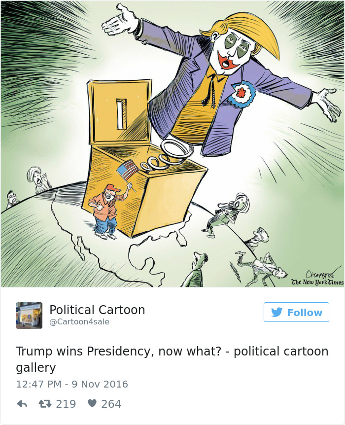 ironic-funny-donald-trump-presidency-illustrations-political-caricatures-comics-13