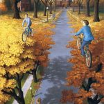 Paintings of optical illusions created by Canadian artist Rob Gonsalves