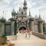 Retro pictures showing the opening day of Disneyland in 1955