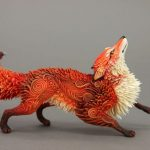 Stunning animal sculptures made out of velvet clay
