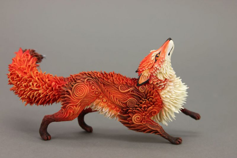stunning animal sculptures made out of velvet clay vuing com