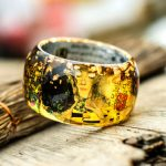 Bright and colorful resin bangles inspired by masterpieces