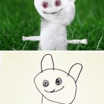 Dad recreates his 6-year-old son's drawings into real world counterparts