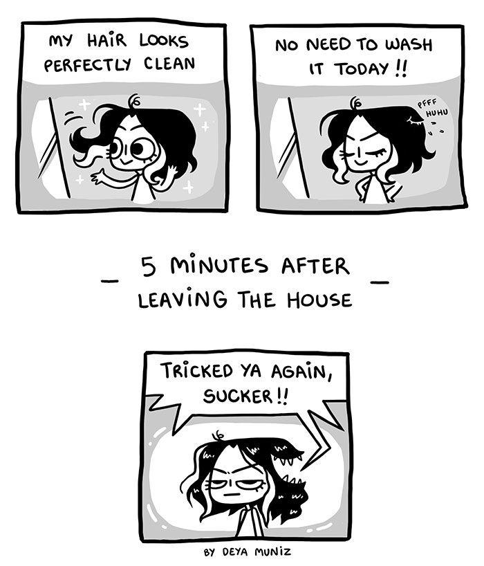 Funny Comics About Woman Showing How Fickle Is Woman