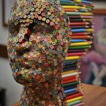 Colorful pencil sculpture – Color Blind
