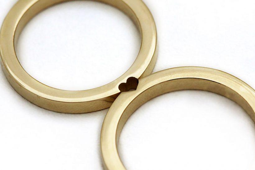 Romantic matching wedding rings Vuingcom