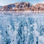Enchanting beauty of the Lake Baikal frozen over