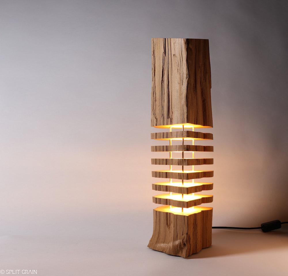 Minimalist design of sliced firewood l&s highlights the natural beauty & Minimalist design of sliced firewood lamps highlights the natural ...