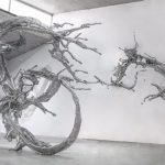 Splashes of stainless steel sculptures by Chinese artist Zheng Lu