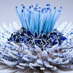 """Blooming"" sculptures created from thousands of ceramic shards"
