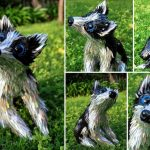 Adorable animal sculptures made from recycled CDs and DVDs