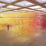 Immersive rainbow forest formed by 60k multi-colored numbers arranged in 3D grids