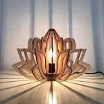 Wood lamps suspended like lotus