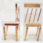 Illusion design titled Exploded Chair by design student Joyce Lin