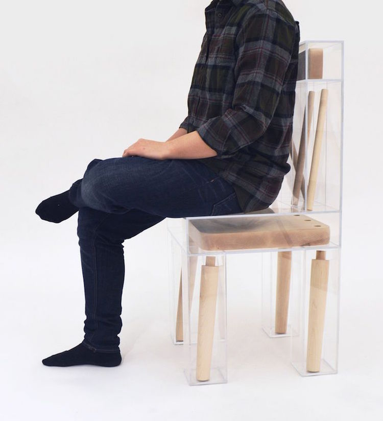 Joyce Lin, A Design Student Majoring In Furniture Design And Biology,  Designed An Illusive Piece Titled Exploded Chair, This Playful Chair Made  From Maple ...