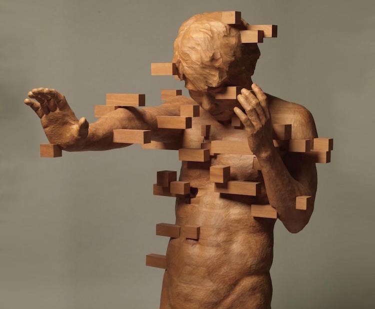 Dynamic wood sculptures by taiwanese contemporary artist for Art moderne sculpture
