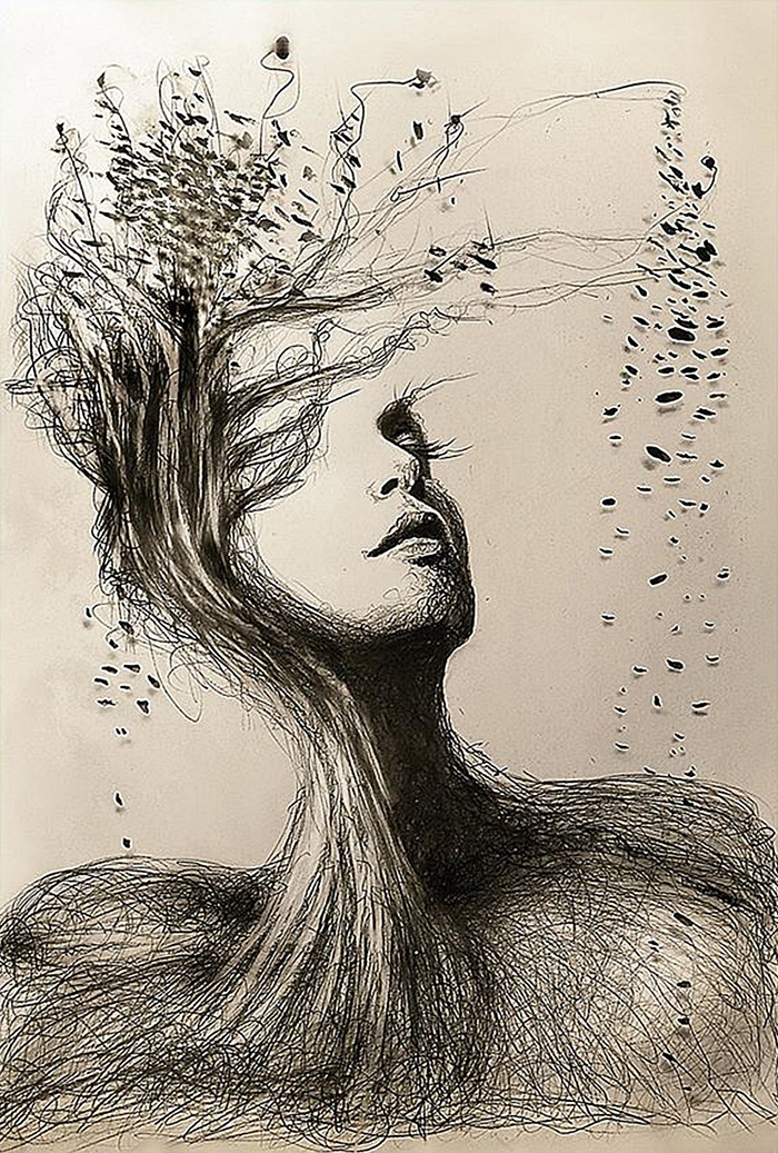 fantastic pencil portraits of mother nature  u2013 vuing com