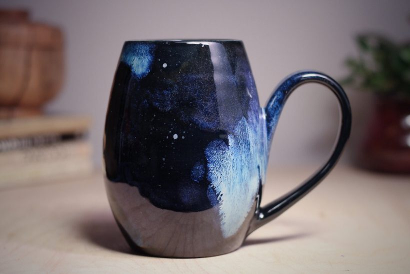 Galaxy Themed Ceramics By Artisan Amanda Joy Wells Vuing Com