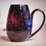 Galaxy-themed ceramics by Artisan Amanda Joy Wells