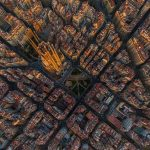 Aerial photography of these well-known cities