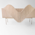 Novel cabinet from Sebastian Errazuriz Studio that opens in various wavelike ways