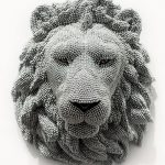 Animal wall decorations made from air fifle BB