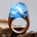 A world a ring – miniature universe encapsulated wooden rings