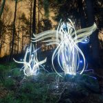 Alien-like light paintings by Finnish artist Hannu Huhtamo