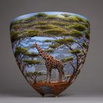 Hand-carving wooden vessels portraying African nature