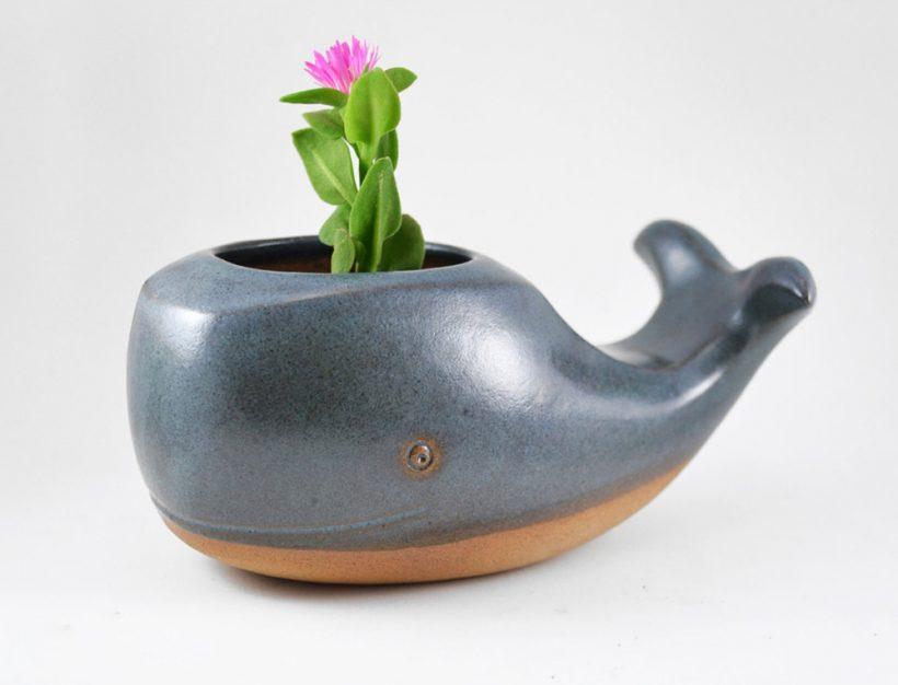 Adorable handmade ceramic animal planters for Handmade pots design