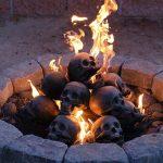 Skull-shaped fireproof logs