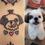 Adorable pet tattoos by a Seoul-based tattooist